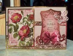Large Handmade 3-D Birthday Card using products from the Radiant Roses kit by Hunkydory