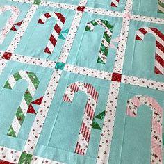 Candy Cane Lane pattern coming soon! #candycanelanequilt #candycanequilt #tashanoel #pixienoelfabric