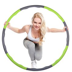 Detachable soft hula hoop waist slimming massage foam hula hoop detachable body weight losing hoop