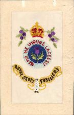 WW1 Regimental Silk. Royal Scots Fusiliers by G. & P. Ltd., London.