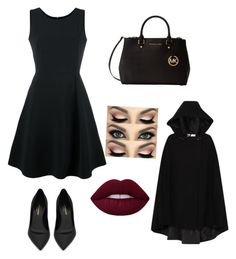 """""""Veronica Lodge Outfit Riverdale"""" by patula432 on Polyvore featuring moda, Emporio Armani, Yves Saint Laurent i Michael Kors"""