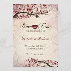 Shop Cherry Blossom and Love Birds Save The Date 2 created by MoonCottageStudio. Vintage Wedding Theme, Vintage Wedding Invitations, Save The Date Invitations, Save The Date Cards, Invites, Pastel Rainbow Background, Beige Wedding, Cherry Blossom Wedding, Love Birds Wedding