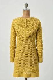 crochet long cardigan- with a hood!