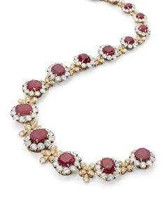 A Burmese ruby and diamond necklace, by Van Cleef & Arpels