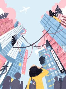 Art wallpaper Beautiful illustration with a perspective. Beautiful illustration with a perspective. Art And Illustration, Illustrations And Posters, Graphic Design Illustration, Posca Art, Wow Art, Jolie Photo, Aesthetic Art, Cute Drawings, Aesthetic Wallpapers