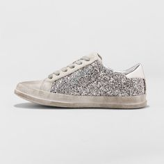 879d3d9213 Women s Tiffani Lace Up Glitter Sneakers - Mossimo Supply Co. Gray 8.5 Best  Sneakers