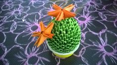 Origami 3d cactus