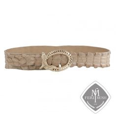 FERI MOSH Exotic Collection - Gabriela Belt Light brown genuine alligator skin belt - Made with real alligator skin - Gold plated buckle in snake design - Varied width - Made in Italy Invest with confidence in FERI MOSH Exotic Collection. Snake Design, Ladies Boutique, Belts, Confidence, Exotic, Plating, Pendants, Italy, Sterling Silver