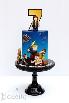 Cake by Kidacity. I LOVE the beautifully airbrushed blue background. It's absolutely perfect!