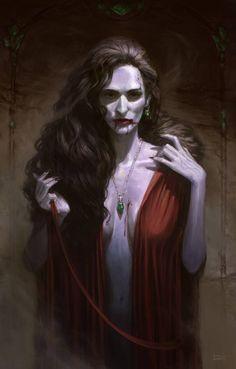 RPG Eyecandy — Artwork by: Felipe Fesbra Escobar Female Vampire, Vampire Girls, Vampire Art, Gothic Horror, Gothic Art, Horror Art, Fantasy Rpg, Dark Fantasy Art, Character Portraits