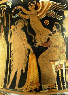 Jason returns with the golden fleece on an Apulian red-figure calyx krater, ca. 340–330 BC... http://en.wikipedia.org/wiki/Gold
