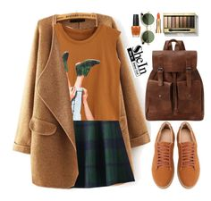 """SheIn ~School~"" by gabygirafe ❤ liked on Polyvore featuring Max Factor, ZeroUV, OPI, Sisley, vintage, school, plaid, Sheinside and shein"