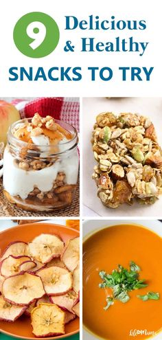 These nine healthy snacks taste great, incorporate the flavors of the season and will help you fill out your fall recipe book this year and beyond. Check out these amazing recipes to help you feel fabulous this season and the rest of the year! | #lifeasmama #autumn #healthysnacks #snacks #fall #healthyfood Healthy Snacks To Make, Healthy Dessert Recipes, Vegan Recipes, Healthy Eating, Easy Desserts, Delicious Recipes, Healthy Life, Fall Crockpot Recipes, Fall Recipes