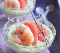 Fondant d'avocat aux agrumes - Envie de bien manger. Plus de recettes de fruits de mer sur www.enviedebienmanger.fr