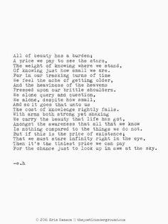 The Burden of Beauty. thepoeticunderground.com #poem #poetry