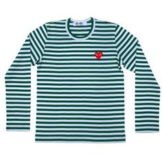 Video J. Cole wears Comme des Garcons Play Striped Logo Shirt for the... ❤ liked on Polyvore featuring tops