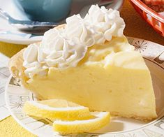 """Lemon Cream Cheese Pie - did you ever think you would see those three together in such a heavenly state? Well, this Midwest Living recipe has put some of my """"favorite things"""" together."""
