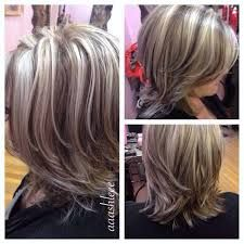Image result for gray hair and low lights