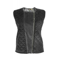 QUILTED VELOUR VEST Vest, Leather Jacket, Fall, Jackets, Shopping, Fashion, Studded Leather Jacket, Autumn, Down Jackets