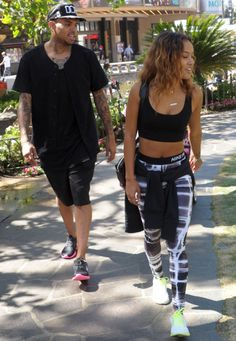 Chris Brown And Girlfriend Karrueche Tran Go On Lunch Date | OK! Magazine