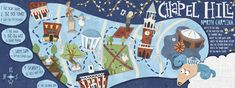 Chapel Hill, NC: The Southern Part of Heaven by Alice Feagan - They Draw & Travel