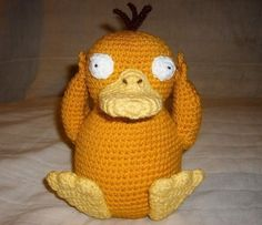 Psyduck  •  Free tutorial with pictures on how to make a bird plushie in 8 steps
