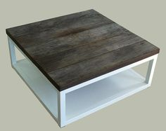 Reclaimed wood coffee table by ChristopherOriginal on Etsy