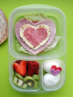 Valentine's Day lunch- Bento box style.