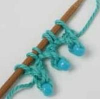 Beaded picot cast on