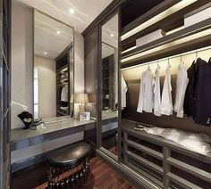 Walk-in closet designs Master Bedroom Closet, Bedroom Wardrobe, Wardrobe Closet, Closet Space, Walk In Closet Design, Wardrobe Design, Closet Designs, Dressing Room Closet, Dressing Rooms