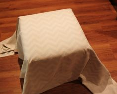 how to make an ottoman cover