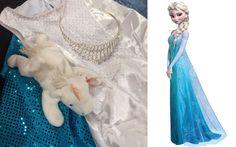 Quick, easy & cheap Elsa Frozen costume from #Goodwill | 8 Last-Minute Kids #Halloween Costumes Frozen Costume, Last Minute, Elsa Frozen, Halloween Costumes For Kids, Play, Disney Princess, Halloween Costumes For Children, Elsa From Frozen, Frozone Costume