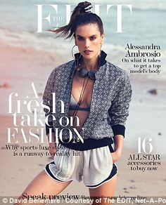 Alessandra Ambrosio smoulders in sizzling swimsuit shoot in The Edit | Daily Mail Online