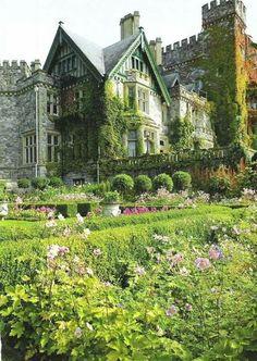Dunsmuir Castle's Italian Garden, Victoria, British Columbia, Canada