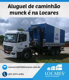 A Locares  é especialistaem locação de caminhão munck para serviços em içamentos, descida, carr...
