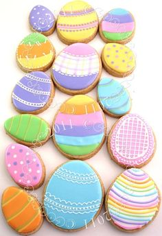 Easter cookies! Great design!! Will have to make these this year!!