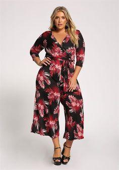 Plus Size Floral Waist Tie Wide Legged Jumpsuit Plus Size Jumpsuit, Size Clothing, Plus Size Outfits, Wide Leg, Legs, Floral, Jumpsuits, Curves, Clothes