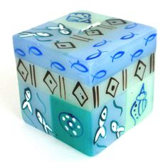 Hand-Painted Cube Candle - Samaki