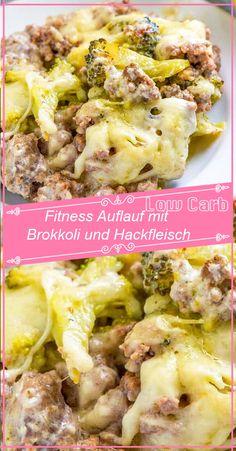 Fitness Auflauf mit Brokkoli und Hackfleisch – GesundeRezepte.me