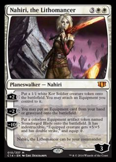 Nahiri, the Lithomancer mtg Magic the Gathering white mythic rare planeswalker card
