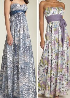 Love these patterned maxi-style dresses as a fun, cool summer bridesmaids dress.