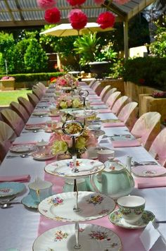 Image result for table laid for afternoon tea party