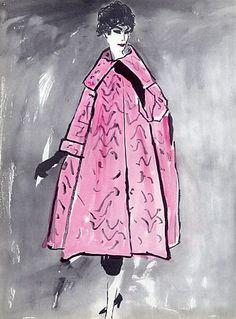 1958 - Balenciaga coat by Bernard Bloussac