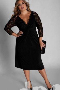 Модные платья для полных женщин невысокого роста