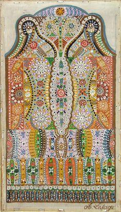 Etienne - Augustin Lesage at Galerie St. Augustin Lesage, Art Nouveau, Paisley, Art Brut, Naive Art, Outsider Art, Teaching Art, Sculpture, Artist Art