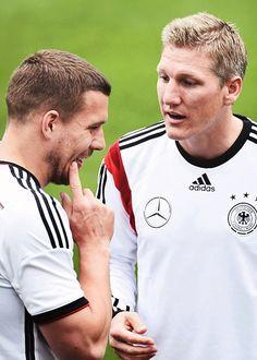 Lukas Podolski & Bastian Schweinsteiger
