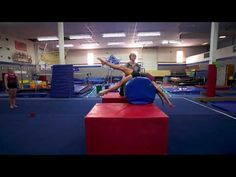 EAS Back Handspring Layout Drill - YouTube