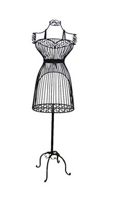 """Female White Steel Wire Mannequin Dress Form 36""""21""""40"""" on Decorative Stand (0003 BLK) Only Mannequins® http://www.amazon.com/dp/B00O3OT8D4/ref=cm_sw_r_pi_dp_pDWvub00EBTJH"""