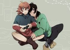Keith and Pidge hang out as Pidge is playing her video game from Voltron Legendary Defender Form Voltron, Voltron Ships, Voltron Klance, Voltron Force, Voltron Memes, Voltron Comics, Voltron Fanart, Space Cat, Paladin
