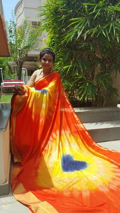 Beautiful saree ....dying in heart shape....more information about this please contact or what's app on this number 9998098019